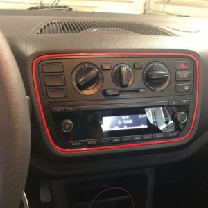 Farbige Lüftungsringe+Radiorahmen VW UP, Seat Mii, Skoda Citigo